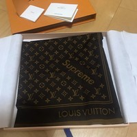 Supreme x Louis Vuitton LV Monogram Bandana Brown scarf 100% Authentic