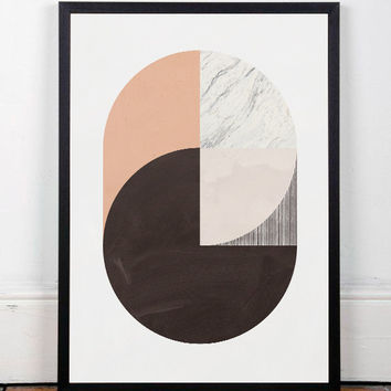 Abstract artwork, Abstract art print, Modern print poster, Geometric print, Wall art, Wall decor, Office decor, Mid century modern, A3 art