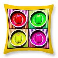 Bell Pepper Rainbow Throw Pillow for Sale by Shawna Rowe