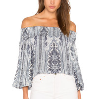 Alice + Olivia Viola Top in Palace Paisley
