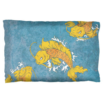 Japanese Koi Fish Tattoo Style Pillow Case