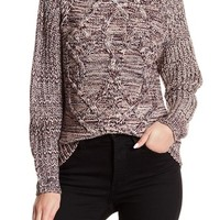 SUSINA | Cabled Tonal Sweater | Nordstrom Rack