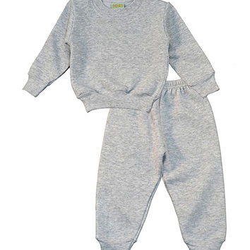 PAM Gray Sweatshirt & Sweatpants Set - Infant | zulily