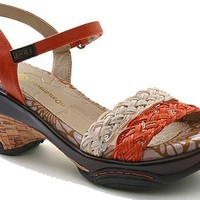 J-41 Naples Burnt Orange Vegan Sporty Wedge, Size 10