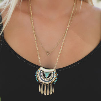Lost Temple Necklace - Gold