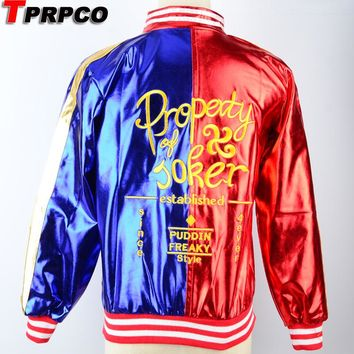 TPRPCO Suicide Squad Harley Quinn Cosplay Costume Coat Jacket NL163