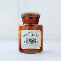 Apothecary Candle, Tobacco & Patchouli