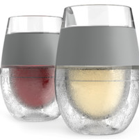 FREEZE™ Cooling Wine Glasses (Set of 2) Red-White Vino