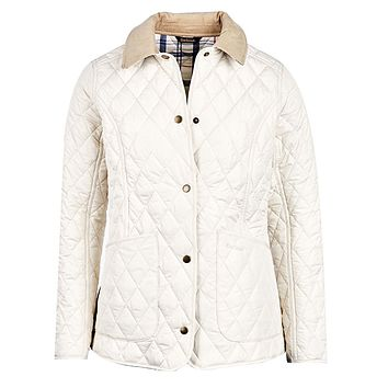 Spring Annandale Quilted Jacket in Pearl by Barbour