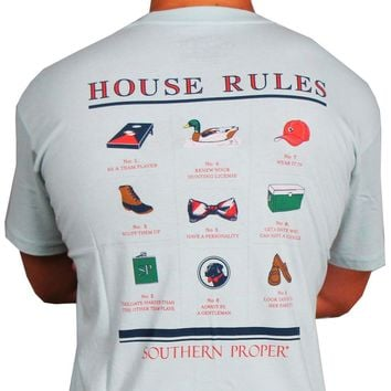 House Rules Tee in Aqua by Southern Proper