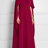 Valentino - Cape-back silk-crepe gown
