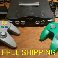 Nintendo 64 console bundle, n64 video game system, controllers, hook ups, n64 console, Nintendo 64 system,  Nintendo 64 console