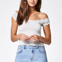 John Galt Stripe Off-The-Shoulder Top at PacSun.com