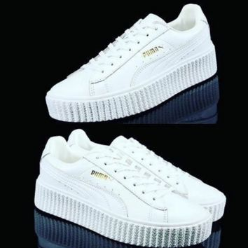 PUMA Women Casual Running Sport Shoes Sneakers White