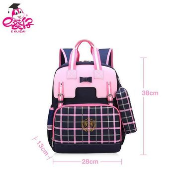 School Backpack E KUIZAI New 2018 Orthopedics Backpack For Girls Primary Students School Bags For Girls Fashion Kid Bag AT_48_3