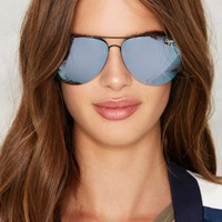 Quay x Amanda Steele Muse Mirrored Aviator Shades - Purple