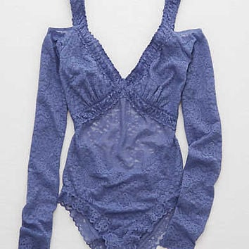 Aerie Lace Bodysuit , Winter Dawn