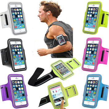 Sports Running Case for iPhone 5S 5 5C SE 6 6S 7 Plus Cases Cover Gym Arm Band Sport Cover Holder Bag Phone Cases for iPhone 6 5