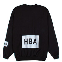 Indie Designs Hood by Air Inspired HBA Box Logo Crewneck Sweatshirt