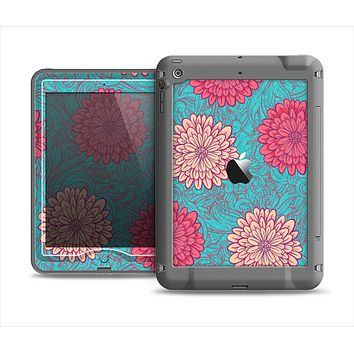 The Pink & Blue Floral Illustration Apple iPad Mini LifeProof Nuud Case Skin Set