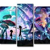 Rick and Morty Wall Art Canvas Print Modern Home Decor For Living Room