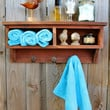 Rustic Home Decor - Cubby Shelf - Railroad Spike - Coat Rack - Bathroom - Entryway - Wall Shelving