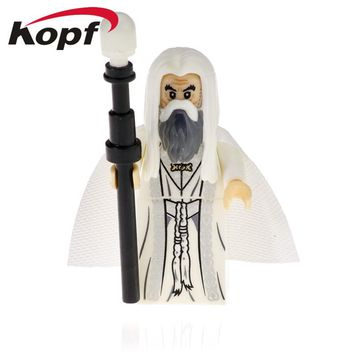 Single Sale Lord of the Ring Saruman Bear man Gray Gandalf Bonf Action Figures Building Blocks Gift Toys Model Children PG555