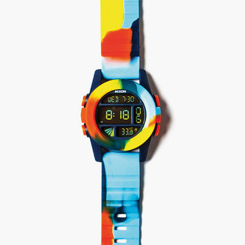 Nixon X Grizzly Tie Dye Unit Watch Rainbow One Size For Men 25754895101