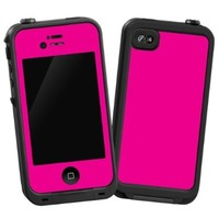 "Hot Pink ""Protective Decal Skin"" for LifeProof iPhone 4/4s Case"