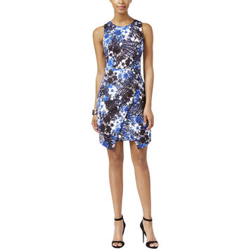 Guess Womens Floral Print Envelope Casual Dress