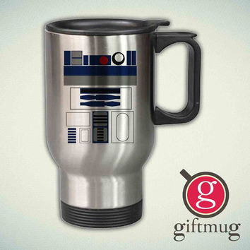 R2D2, Star Wars 14oz Stainless Steel Travel Mug