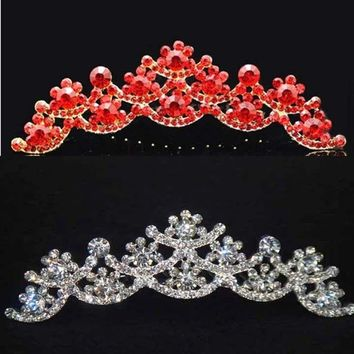 Bridal Rhinestone Headdress headpiece crystal Hair tiara Comb HR164