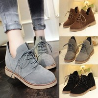 ankle boots for  Women Martin Boots Female British Style Casual Flat Heel Women Boots Fashion Shoes #NFA