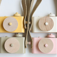Pixie - wooden toy camera, two-tone w/o cork bottom