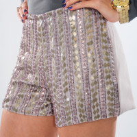 Shimmer And Shine Shorts: Light Lilac