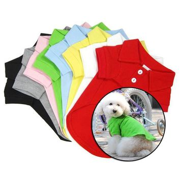 1PCS Dog Clothes T-Shirt For Dogs Clothes Summer Tops Cheap Pet Clothes For Dogs Vest Puppy Tee Shirt Pets Clothing Accessories