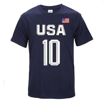 Basketball Jerseys USA Basketball Number 10 Olympic Games Short Sleeve Kyrie Irving Sports T Shirts