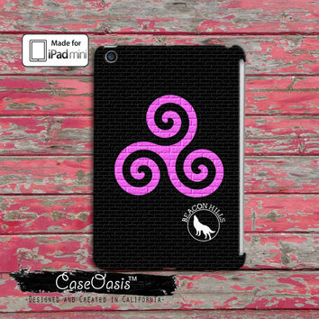 Teen Wolf Inspired Triskelion Alpha Symbol Pink Pattern Beacon Hills Derek Hale Cool Tumblr Custom iPad Mini and iPad Mini Retina Case Cover