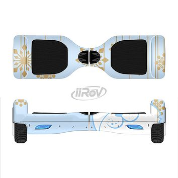The Happy Winter Cartoon Cat Full-Body Skin Set for the Smart Drifting SuperCharged iiRov HoverBoard