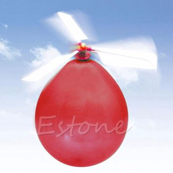 New Funny 10Pcs Traditional Classic Balloon Helicopter Kids Child Children Play Flying Toy Gift