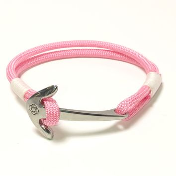 Pink Nautical Anchor Bracelet Stainless Steel 025