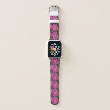 Red Thomas rose Apple Watch Band