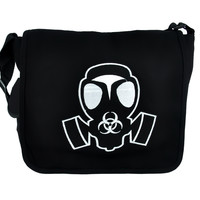Gas Mask School Messenger Crossbody Bag Zombie Apocalypse