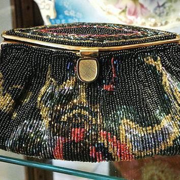 la regale beaded handbag sequin studio 18 purse bead clutch conversion 1970s prom form