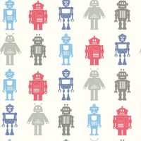 Brewster 56 sq. ft. Robot League Multicolor Robots Wallpaper-443-90512 at The Home Depot