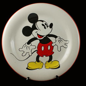 Disney Mickey Mouse Plate by Gabbay