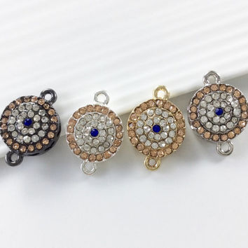 10 pcs  Evil Eye Connectors,Evil  Eye  Charms,  evil eye  jewelry evil eye bracelet