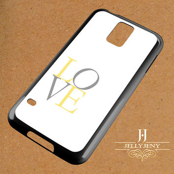 Yellow And Gray Nursery Love Samsung Galaxy S3 S4 S5 S6 S6 Edge Case | Galaxy Note 3 4 Case