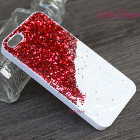 Phone cover, iphone 6 case, Real Glitter Pink Red, iphone 6 plus, iPhone 5s case,iPhone 5c case, Galaxy S5 case, Note3 case,Real Glitter-027