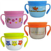 Gobble N Go Kids Stainless Steel Snack Cups